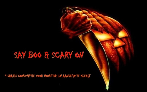 Say boo & scary on